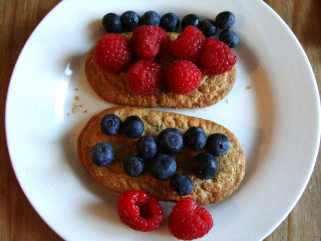 Belvita biscuits with blueberry and rasberry