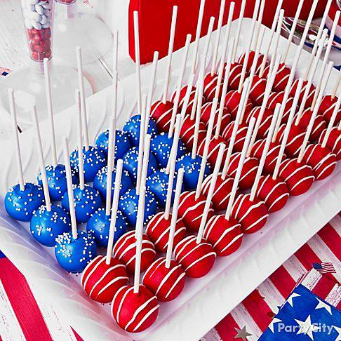 Th Of July Cake Pops