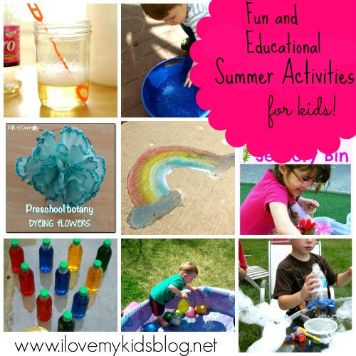 Fun And Educational Activities For Kids. What To Do With