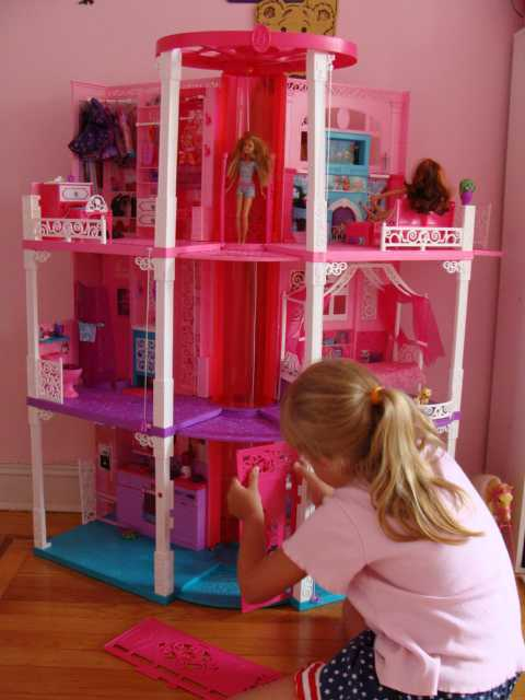 The All New, Renovated, 3-story Barbie Dream House 2013 is ...