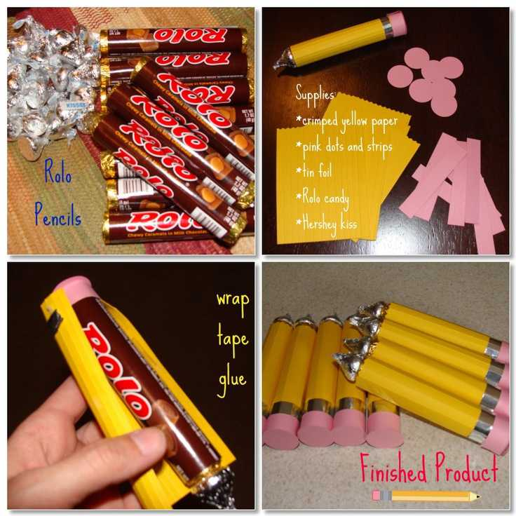 How to make Rolo or Candy Pencils, DIY Back to School ...