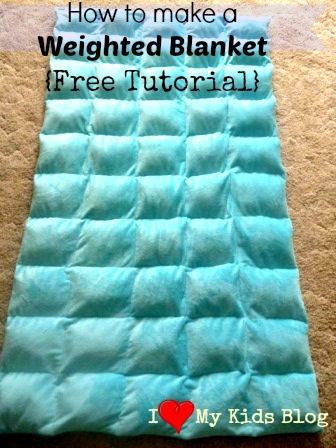 Diy weighted blanket free tutorial for Craft ideas for autistic students