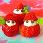 "Cutest Fruit Snack idea – Stuffed Strawberry ""elves"""