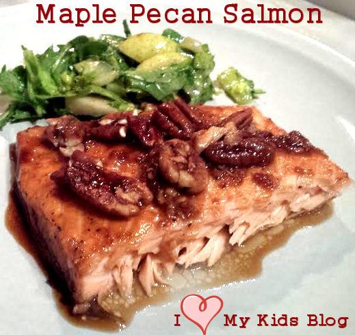 Maple Pecan Salmon Recipe - I love My Kids Blog