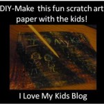 Kids DIY-Make your own scratch art paper!