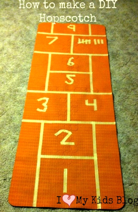How To Decorate A Long Living Room With Windows: How To Make A DIY Indoor Hopscotch Mat With A Yoga Mat