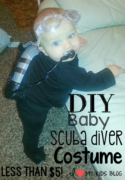 Diy Baby Scuba Diver Costume Less Than 5 To Make