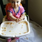 highchair-bib-caught-the-wet-food-easily