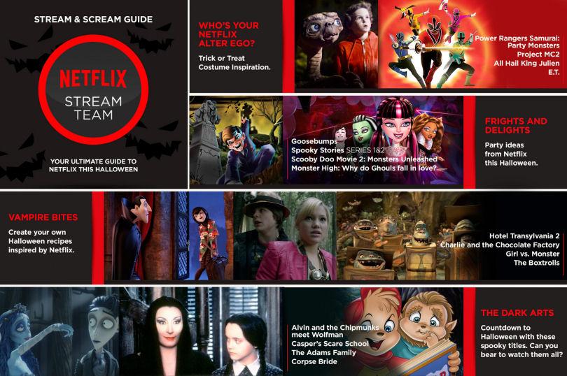 Netflix halloween stream scream guide for Watch create and craft tv online
